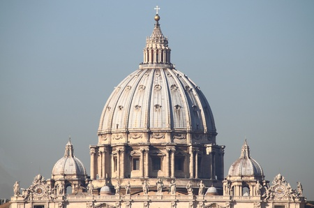 The dome of Saint Peter cathedral in Vatican City