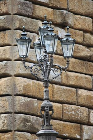 Renaissance street lamp in Pitti Palace. Florence, Italy Stock Photo - 13213595