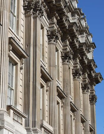 The facade of Whitehall building in London, UK Editoriali