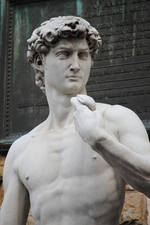 Statue of David from Michelangelo in Florence, Italy