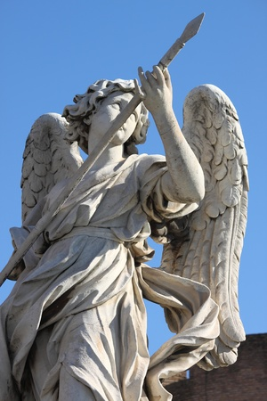 Angel statue in Saint Angel bridge. Rome, Italy photo