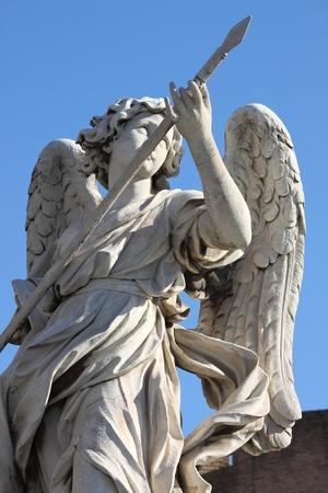 bernini: Angel statue in Saint Angel bridge. Rome, Italy Stock Photo