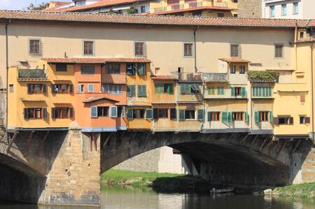 Detail of Ponte Vecchio in Florence, Italy Stock Photo - 13318181