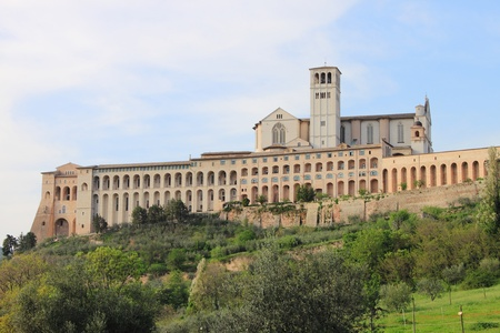 franciscan: Saint Francis Cathedral in Assisi, Italy
