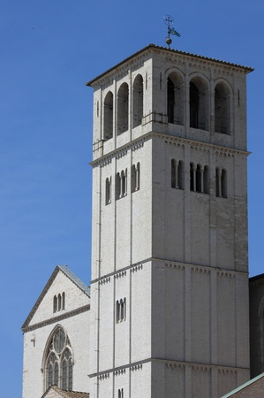 Saint Francis Cathedral in Assisi, Italy photo