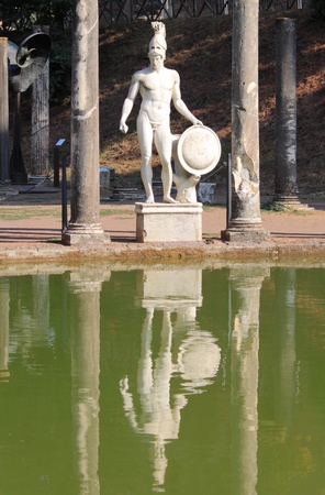Statue of Ares in Villa Adriana near Rome, Italy