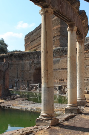 Ruins of Villa Adriana near Rome, Italy photo