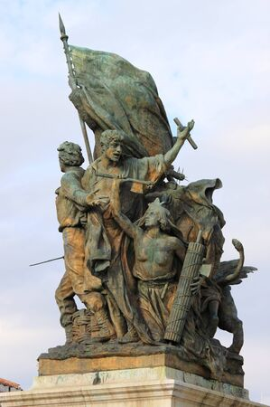 powerful creativity: Victory Statue in Venice Square of Rome, Italy