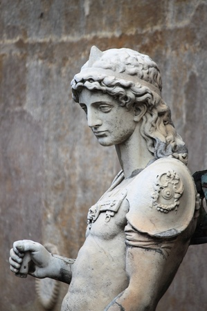 archangel: Saint Michael Archangel statue in Saint Angel castle  Rome, Italy