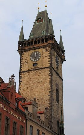 Old Town Hall Tower in Prague, Czech Republic photo