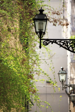 Old medieval street lamps Stock Photo - 13594780