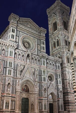 Santa Maria del Fiore cathedral by night. Florence, Italy Stock Photo - 13653444
