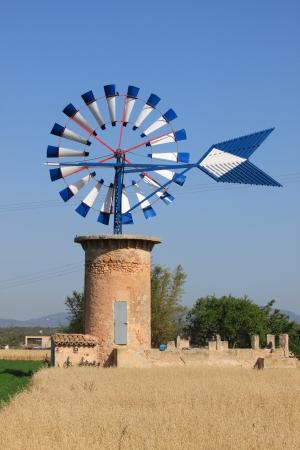 Typical windmill in Mallorca island, Spain photo