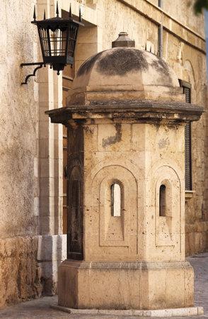 sentry: Sentry box at the Almudaina Palace in Palma de Mallorca, Spain
