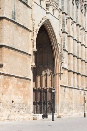 Entrance portal of Palma de Mallorca cathedral, Spain photo