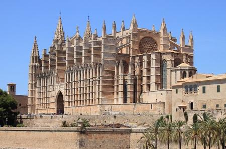 gargouilles: Cath�drale gothique de Palma de Majorque, Espagne Banque d'images