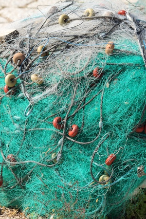 Bunch of fishing nets photo