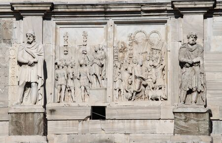 Details of Arch of Constantine in Rome, Italy