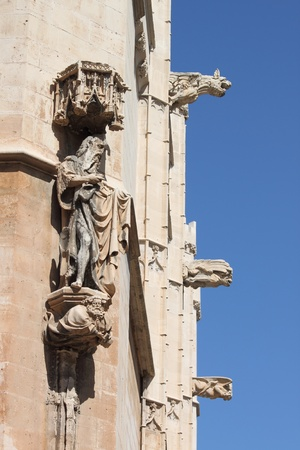 gargoyles: Gargoyles at La Lonja monument in Palma de Mallorca, Spain