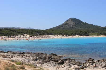 Cala Agulla Beach in Mallorca island, Spain
