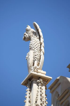 malign: Gargoyle in City Hall building of Palma de Mallorca, Spain