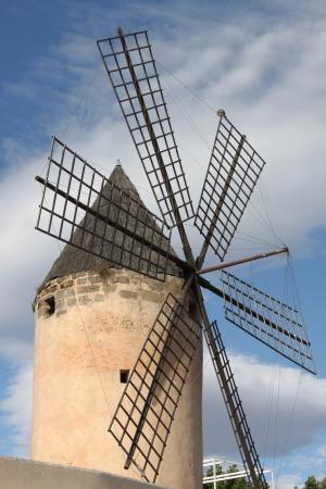 Traditional spanish windmill in Mallorca, Spain photo