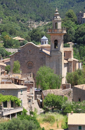 Church of St. Bartholomew in Valldemossa. Majorca island, Spain