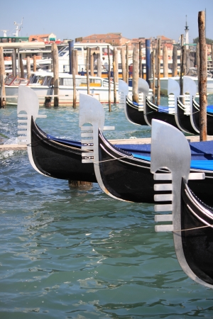 Some Gondolas in Venice, Italy Stock Photo - 14837160
