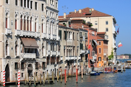 Reinaissance buildings in Venice, Italy photo
