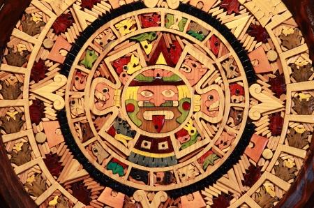 aztec calendar: Close up view of a Aztec Calendar