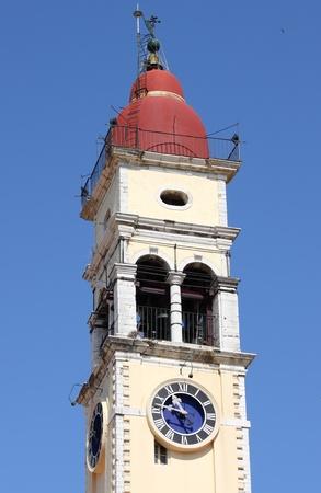 ionio: Bell tower of Saint Spiridon Church in Corfu, Greece