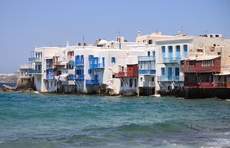 Little Venice in Mykonos Island, Greece photo
