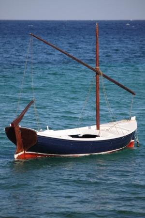 Multicoloured fishing boat in Greece Stock Photo - 14837169