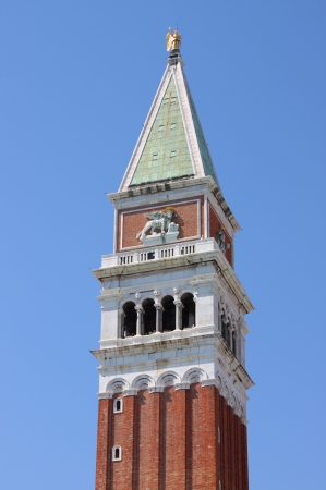 St  Marcus bell tower in Venice photo