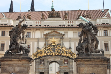 Entrance Gate of the Prague Castle, Czech Republic