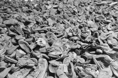 Shoes of the people deported in Auschwitz concentration camp, Poland