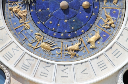 The astronomical clock of St  Mark square in Venice, Italy photo