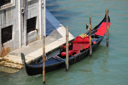 Gondola boat in Venice, Italy photo