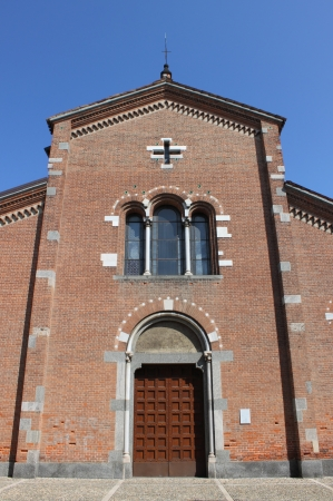 martyr: Facade of St  Peter Martyr church in Monza, Italy
