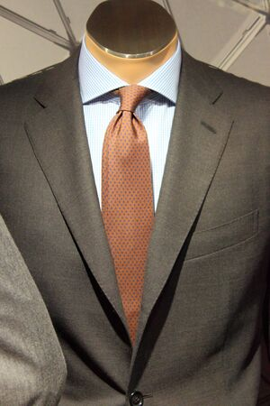 An elegant men suit on a mannequin photo
