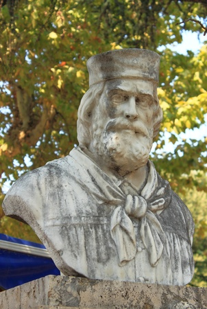 garibaldi: Memorial statue of Giuseppe Garibaldi in Rome, Italy Editorial