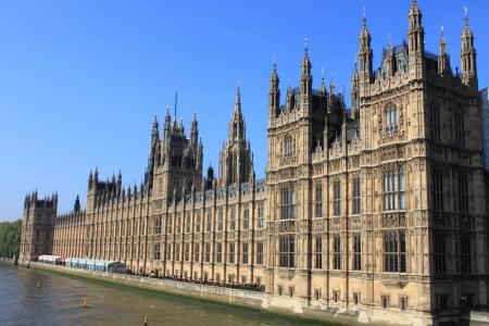 Landschap uitzicht op de Houses of Parliament in Londen, UK Stockfoto