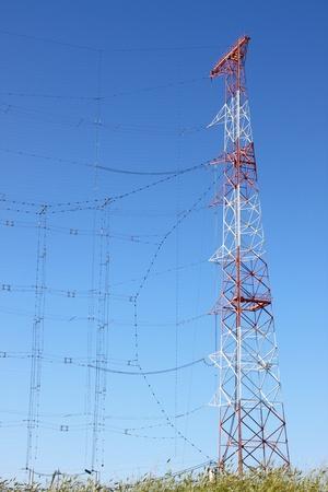 High power radio antenna communication towers Stock Photo - 15651287