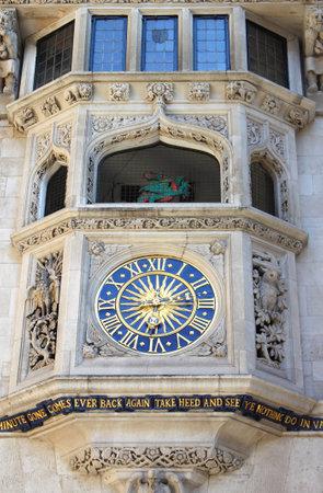 London, UK - May 23, 2010: Detailed view of Liberty clock
