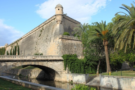 sentry: Es Baluard Fortress in Palma de Mallorca, Spain Editorial