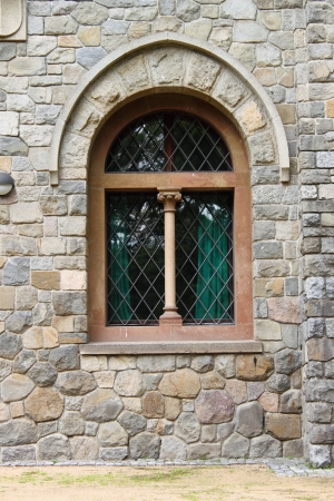 A double lancet window in a medieval castle Stock Photo - 15808621