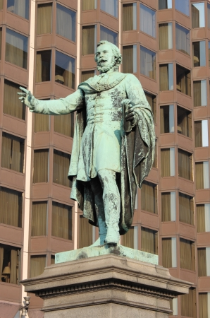 baro: Statue of Jozsef Eotvos in Budapest, Hungary