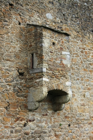 latrine: Medieval toilet in an ancient castle