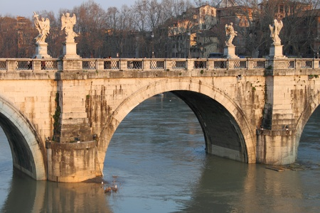 Saint Angel bridge in Rome, Italy photo