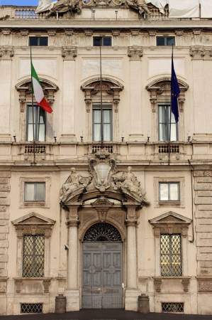 constitutional: Rome, Italy - June 12, 2010: Facade of the Constitutional Court palace Editorial